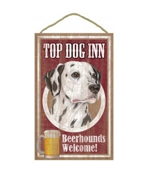 Top Dog Beerhound 10x16 Dalmatian