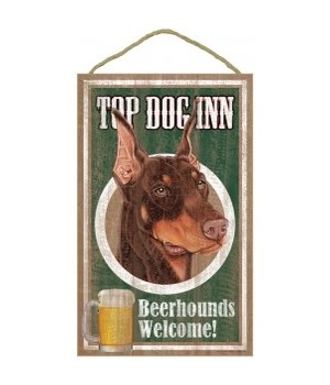 Top Dog Beerhound 10x16 Doberman (brown