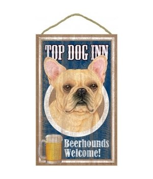 Top Dog Beerhound 10x16 French Bulldog