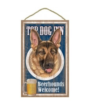 Top Dog Beerhound 10x16 German Shepherd