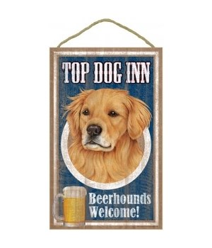 Top Dog Beerhound 10x16 Golden Retriver