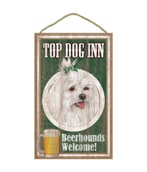 Top Dog Beerhound 10x16 Maltese with bo