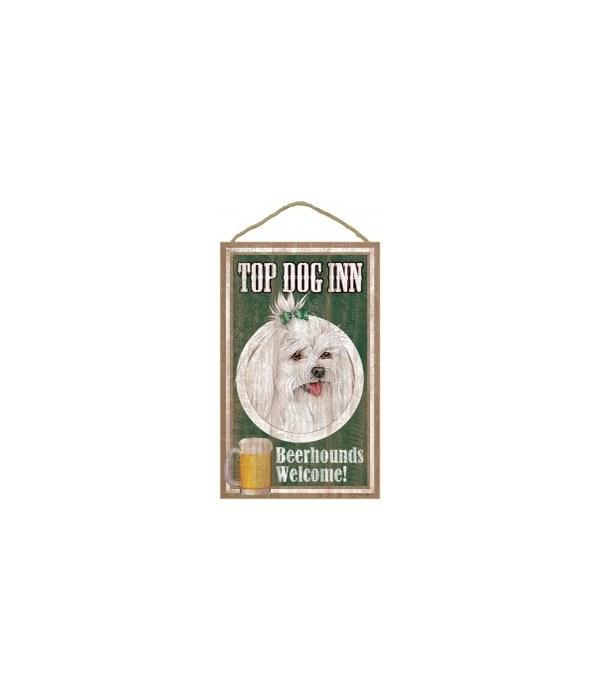 Top Dog Beerhound 10x16 Maltese with bo