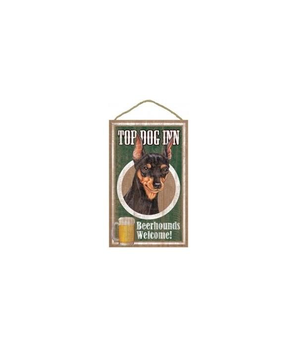 Top Dog Beerhound 10x16 Miniature Pinsc