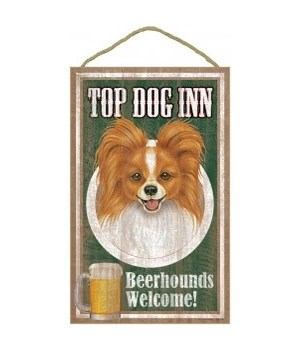 Top Dog Beerhound 10x16 Papillon/rd-brn