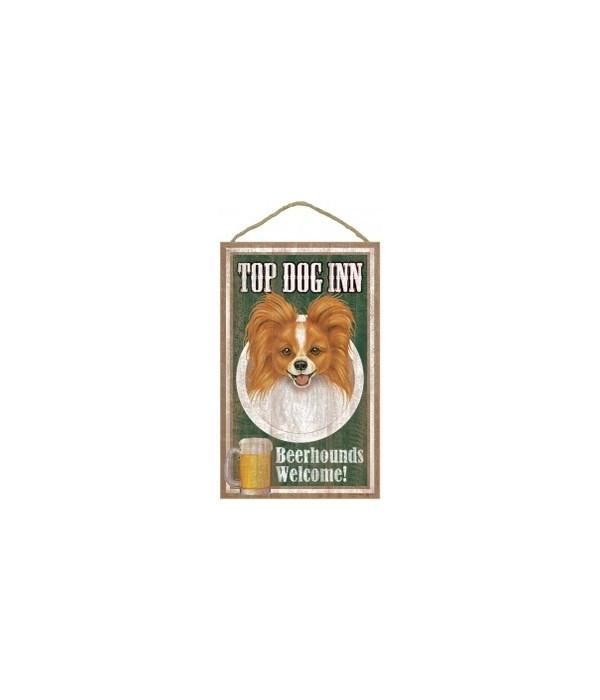 Top Dog Beerhound 10x16 Papillon/rd-brn