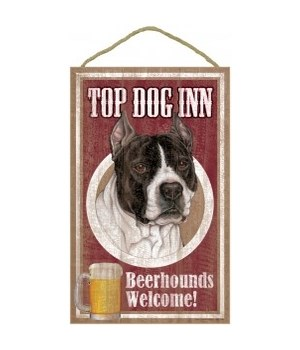 Top Dog Beerhound 10x16 Pitbull (B&W)