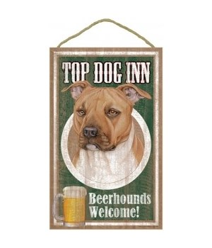 Top Dog Beerhound 10x16 Pitbull (Tan)