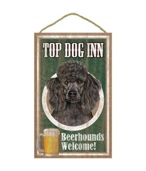Top Dog Beerhound 10x16 Poodle (Black)