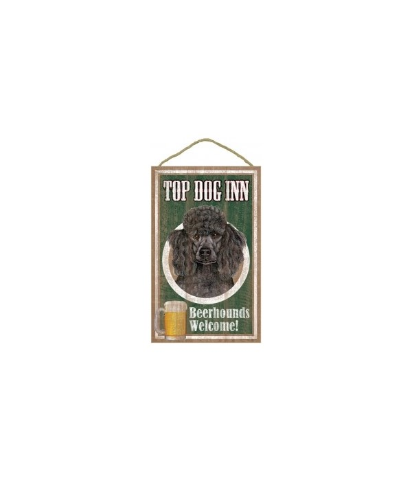 Top Dog Beerhound 10x16 Poodle (Black)