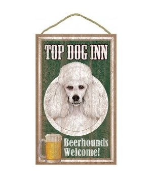 Top Dog Beerhound 10x16 Poodle (White)