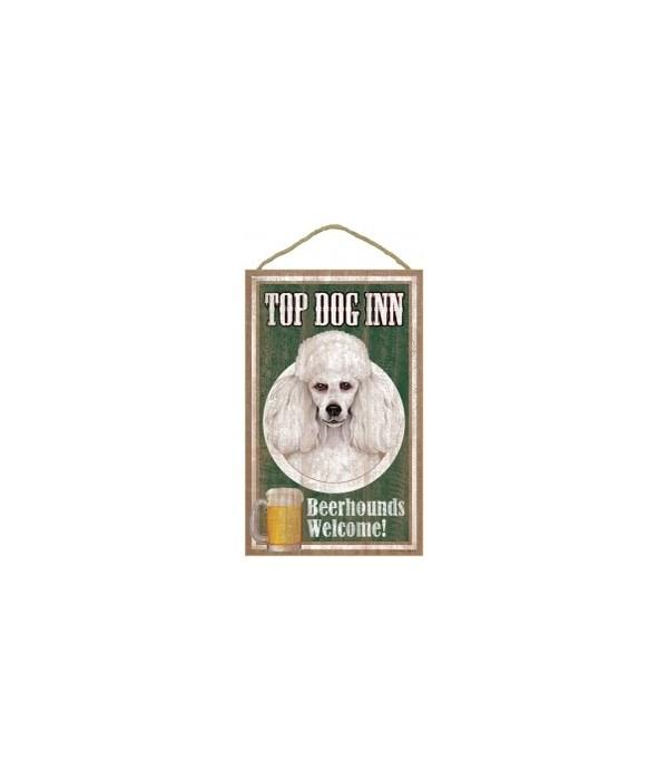Top Dog Beerhound 10x16 Poodle (White)