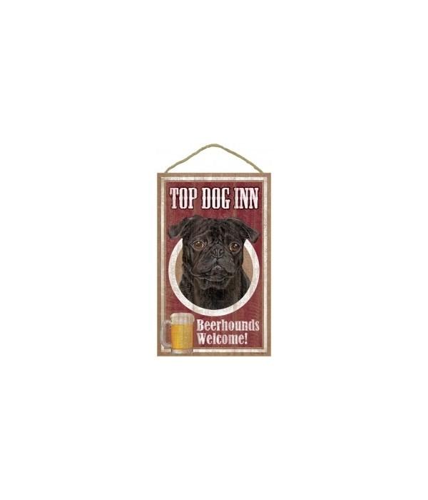Top Dog Beerhound 10x16 Pug (Black)
