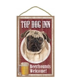 Top Dog Beerhound 10x16 Pug (Tan)