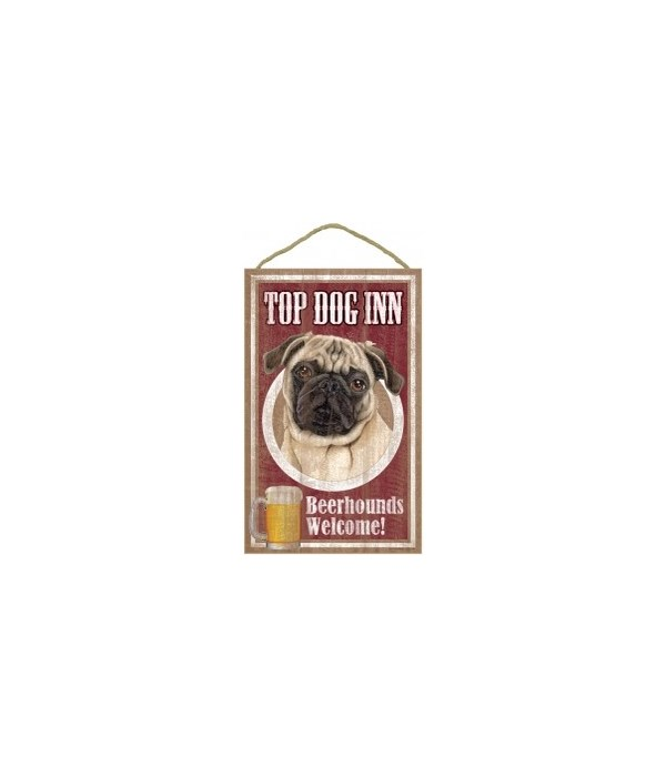 Top Dog Beerhound 10x16 Pug (Tan)
