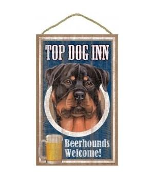 Top Dog Beerhound 10x16 Rottweiler