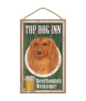 Top Dog Beerhound 10x16 Dachshund