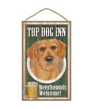 Top Dog Beerhound 10x16 Dachshund-Wire
