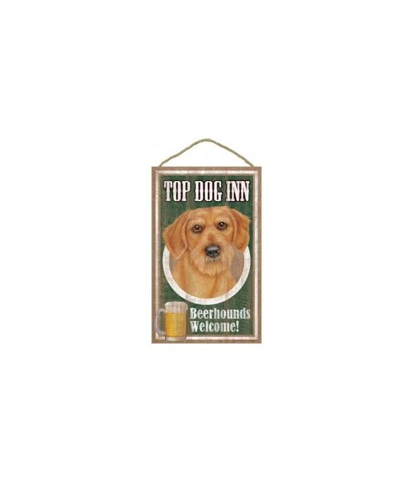 Top Dog Beerhound 10x16 Dachshund-Wire