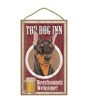 Top Dog Beerhound 10x16 Doberman (bk)