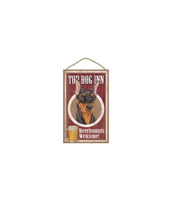 Top Dog Beerhound 10x16 Doberman (bk)