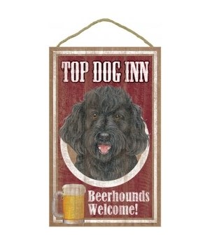 Top Dog Beerhound 10x16 Labradoodle Blk