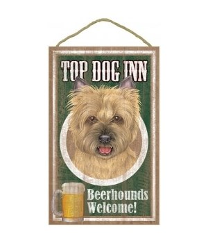 Top Dog Beerhound 10x16 Cairn Terrier Tn