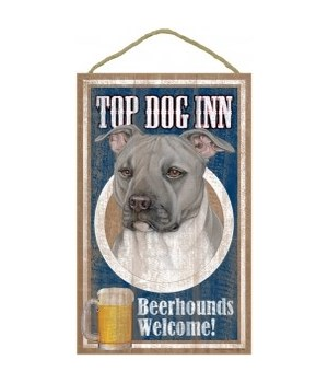 Top Dog Beerhound 10x16Pitbull(gray)