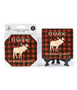 Maine - Wicked Good - Moose silhouette w