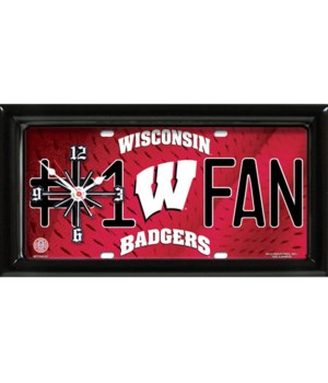Wisconsin Badgers Clock