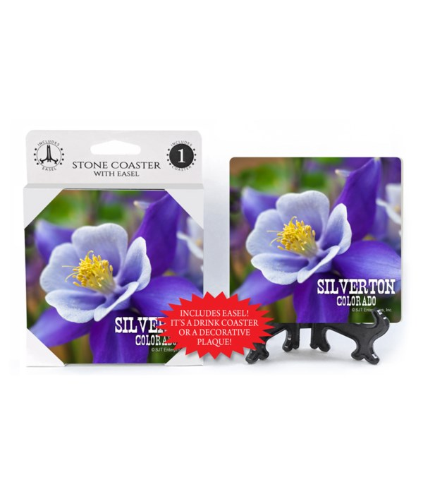 Silverton, Colorado - Purple Flower Coas