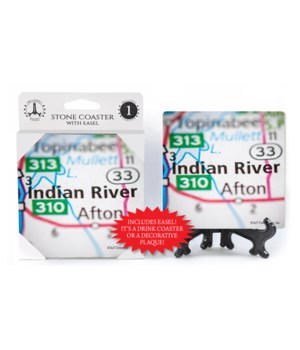 Indian River Map Custom Coaster