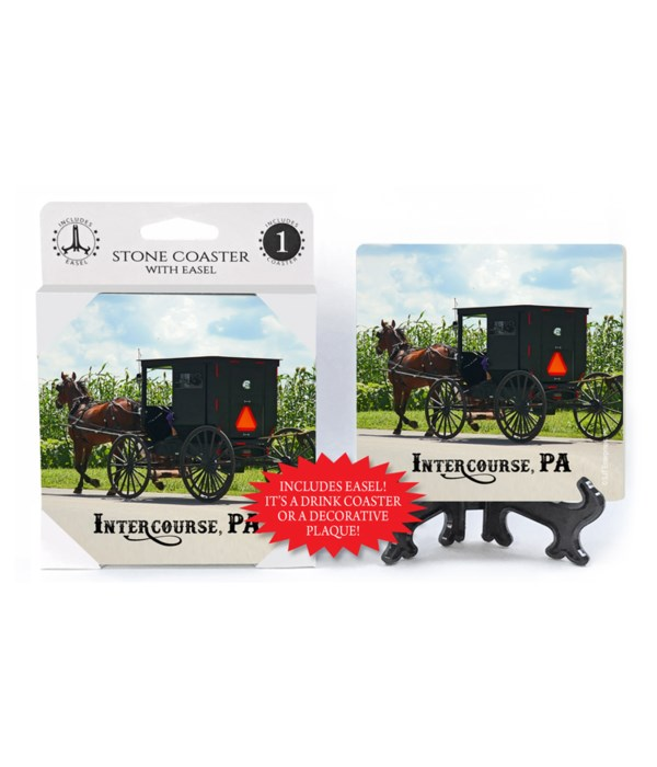 Intercourse, PA - buggy with cornfield i