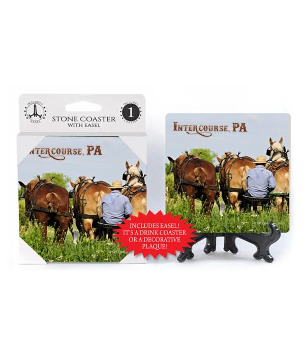 Intercourse, PA - 3 horses plowing w/far