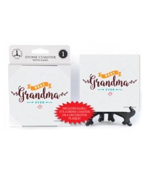 Best Grandma Ever - plain bkgd Coaster