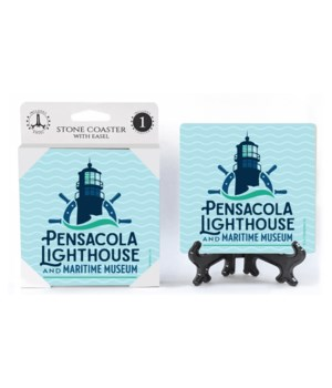 Pensacola Lighthouse logo Coaster