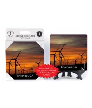 Tehachapi, CA - wind turbine farm - dusk