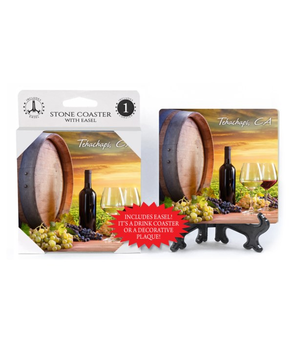 Tehachapi, CA - Wine barrel / glasses /