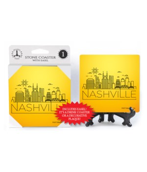 Nashville - Outline drawing of skyline -