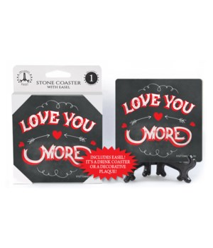 Love you more (chalkboard looking backgr