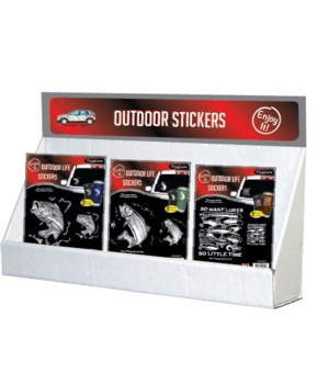Outdoor LIfe-JQ Stickers Small Counter Display