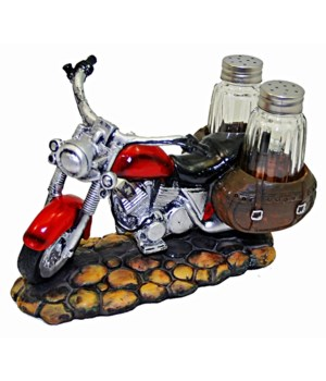 Motorcycle Salt & Pepper Set - 7.75""