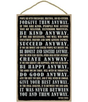 Mother Theresa 10 x 16 sign