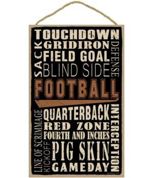 Football (word art) 10 x 16 sign