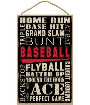 Baseball (word art) 10 x 16 sign