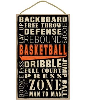 Basketball (word art) 10 x 16 sign