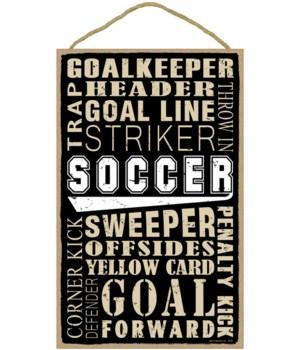 Soccer (word art) 10 x 16 sign