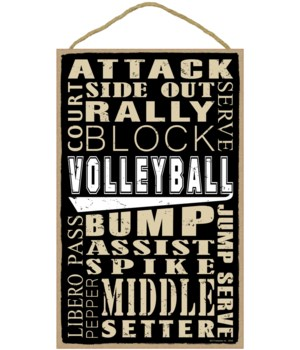 Volleyball (word art) 10 x 16 sign