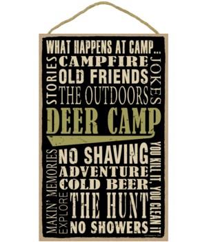 Deer Camp (word art) 10 x 16 sign