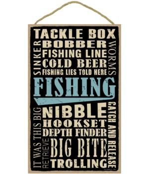 Fishing (word art) 10 x 16 sign